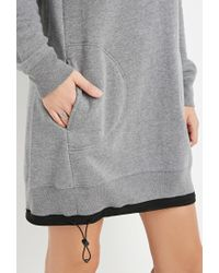Forever 21 - Gray Drawstring Sweatshirt Dress - Lyst