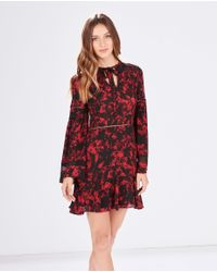 Parker | Red Milly Printed-Silk Dress | Lyst