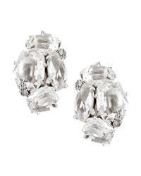 Alexis Bittar Fine | Metallic Clear Quartz & Diamond Cluster Clip Earrings | Lyst
