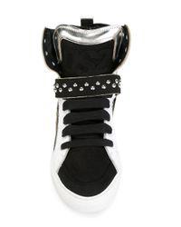 DSquared² - Black 'dsq' Hi-top Sneakers for Men - Lyst