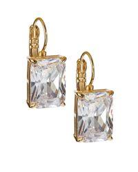 Kate Spade | Metallic Draped Jewels Emerald Cut Drop Earrings | Lyst