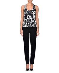 Moschino | Black Sleeveless Shirt | Lyst