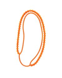 FLorian | Orange Double Necklace | Lyst
