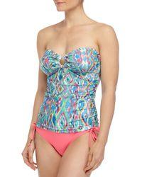 Ella Moss - Blue Savannah Ikat Bandini Swim Top - Lyst