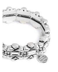 Philippe Audibert - Metallic 'Romane' Crystal Flower Elastic Bracelet - Lyst