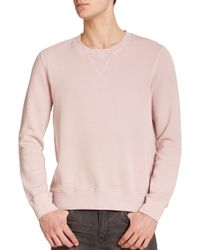 BLK DNM - Pink Dyed Crewneck Sweatshirt for Men - Lyst