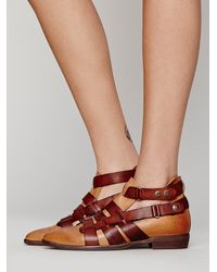 Free People - Natural Fp Collection Womens Style-nine Ankle Boot - Lyst