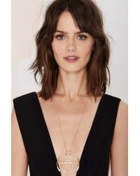 Nasty Gal - Metallic Shape Up Chain Necklace - Lyst