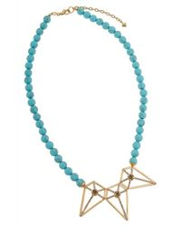 Rebecca Minkoff | Blue Stones And Blades Necklace | Lyst