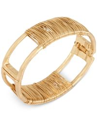Robert Lee Morris | Metallic Gold-tone Wire-wrapped Bangle Bracelet | Lyst