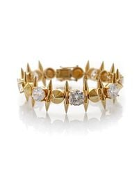 Noir Jewelry | Metallic Spike And Cz Mini Punk Bracelet | Lyst
