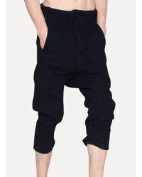 Boris Bidjan Saberi 11 - Black Denim Raw Slim Cropped Jeans for Men - Lyst