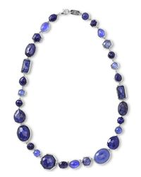 Ippolita | Blue Rock Candy® Short All Stone Necklace In Odyssey | Lyst