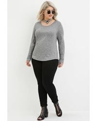Forever 21 - Gray Plus Size Classic Marled Top - Lyst