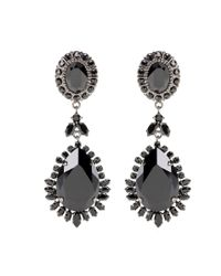 Givenchy   Black Embellished Clip-on Earrings   Lyst