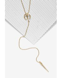 Nasty Gal - Metallic Luv Aj On The Cusp Lariat Necklace - Lyst