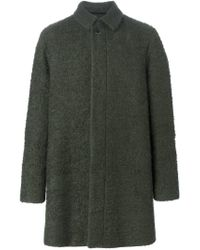 MSGM - Green Single Breasted Buttoned Coat - Lyst