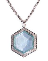 Jade Jagger - Metallic Diamond, Aquamarine & White-Gold Necklace - Lyst