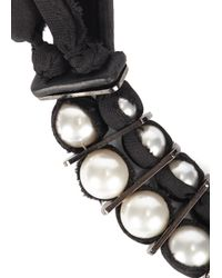 Lanvin | Black Palaite Faux Pearl Embellished Necklace | Lyst