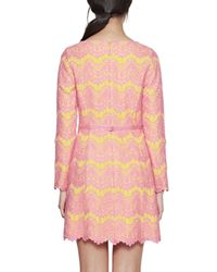 French Connection | Pink Linea Lace Shift Dress | Lyst