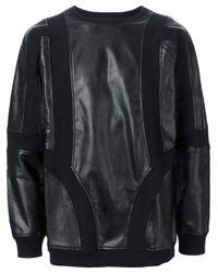 KTZ - Black Panelled Sweatshirt for Men - Lyst