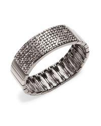 R.j. Graziano | Metallic Pave Stretch Bracelet | Lyst