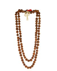 Zeus+Dione - Red Rudraksha Bead Gold-Plated Necklace - Lyst