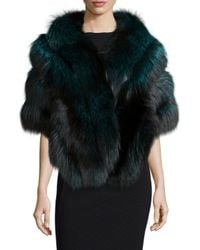 Gorski | Multicolor Fox Fur Stole W/leather | Lyst