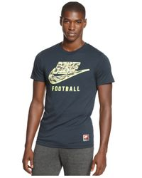 Nike | Green Woodland Camo-Printed Swoosh T-Shirt for Men | Lyst