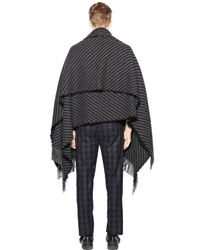 Christian Pellizzari - Gray Striped Wool Blend Knit Shawl for Men - Lyst