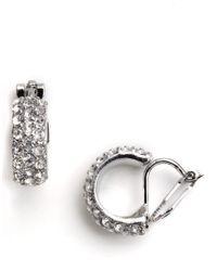 Lauren by Ralph Lauren | Metallic Clip-on Hoop Earrings | Lyst