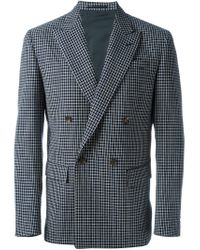 Marni - Blue Double Breasted Blazer for Men - Lyst