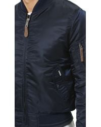 Ben Sherman - Blue Bomber Jacket for Men - Lyst