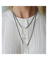Ali Grace Jewelry | Metallic Silver Brass Double Length 2 Crystal Necklace | Lyst