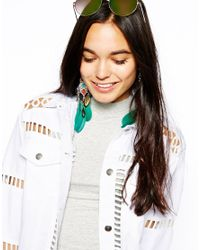 ASOS | Multicolor Dream Catcher Feather Earrings | Lyst