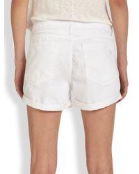 Rag & Bone - White Boyfriend Shorts - Lyst