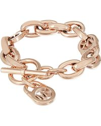 Michael Kors | Metallic Logo Link Bracelet - For Women | Lyst