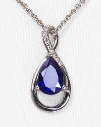 """Carolee - Blue Figure 8 Pendant Necklace, 18"""" - Lyst"""