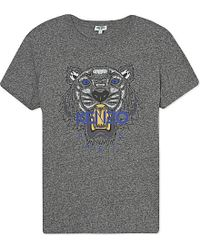 KENZO | Gray Tiger Cotton-jersey T-shirt | Lyst