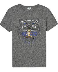 KENZO - Gray Tiger Cotton-jersey T-shirt - Lyst