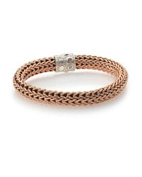 John Hardy | Metallic Classic Chain Bronze & Sterling Silver Bracelet for Men | Lyst