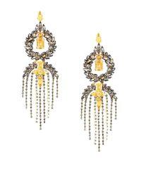 BCBGMAXAZRIA | Metallic Stone Fringe Earrings | Lyst