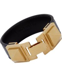 Saint Laurent | Metallic Clous Punk Carré Bracelet | Lyst