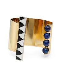 Uribe - Metallic 'walter' Lapis & Enamel Open Cuff Bracelet - Lyst