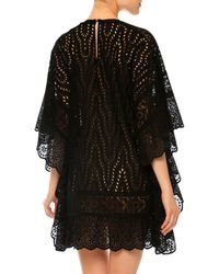 Valentino - Black San Gallo Lace Cape Dress - Lyst