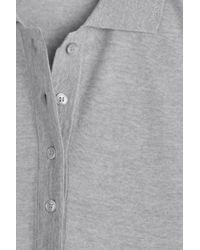 KENZO - Gray Draped Wool Tunic Top - Grey - Lyst