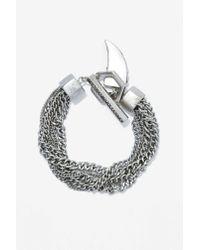 Nasty Gal - Metallic Charm School Chain Bracelet - Lyst