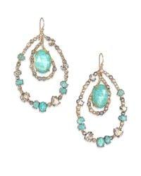 Alexis Bittar | Green Elements Moonlight Amazonite & Crystal Doublet Teardrop Earrings | Lyst