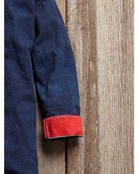 Free People - Blue Vintage Long Details Coat - Lyst