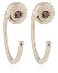 Melissa Joy Manning - White Gold Black Diamond Hug Earrings - Lyst